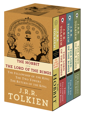 J.R.R. Tolkien 4-Book Boxed Set: The Hobbit and the Lord of the Rings (Movie Tie-In): The Hobbit, the Fellowship of the Ring, the Two Towers, the Retu Cover Image