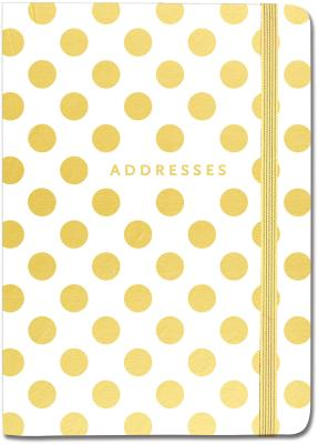 Gold Dots Address Book Cover Image