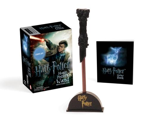 Harry Potter Wizard's Wand with Sticker Book: Lights Up! (RP Minis) Cover Image