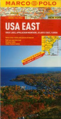 USA East Map: Great Lakes, Appalachian Mountains, Atlantic Coast, Florida (Marco Polo Maps) Cover Image