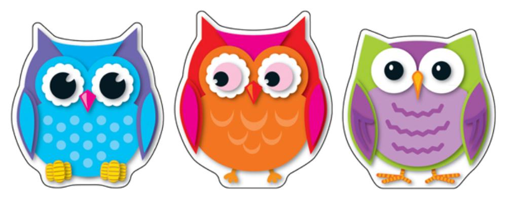 Colorful Owls Cut-Outs Cover Image