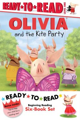 Olivia Ready-to-Read Value Pack #2: Olivia and the Kite Party; Olivia and the Rain Dance; Olivia Becomes a Vet; Olivia Builds a House; Olivia Measures Up; Olivia Trains Her Cat (Olivia TV Tie-in) Cover Image