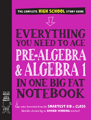 Cover for Everything You Need to Ace Pre-Algebra and Algebra I in One Big Fat Notebook (Big Fat Notebooks)