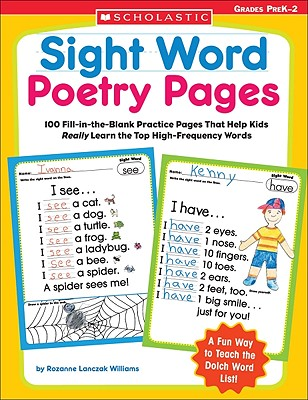 Sight Word Poetry Pages: 100 Fill-in-the-Blank Practice Pages That Help Kids Really Learn the Top High-Frequency Words Cover Image