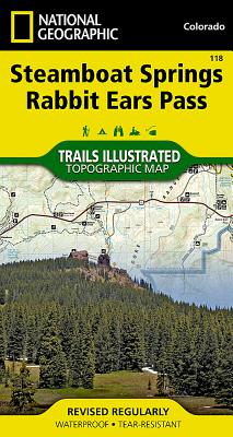 Steamboat Springs, Rabbit Ears Pass (National Geographic Trails Illustrated Map #118) Cover Image