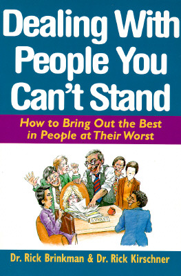 Dealing with People You Can't Stand Cover