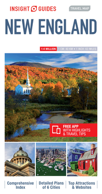 Insight Guides Travel Map New England (Insight Travel Maps) Cover Image