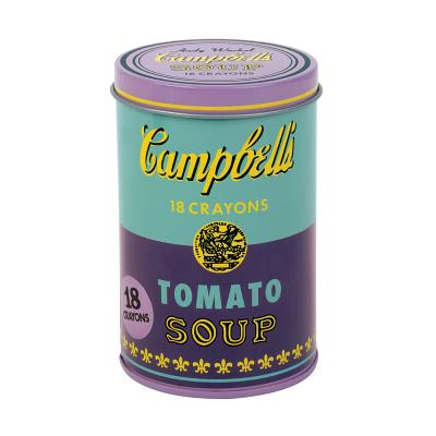 Andy Warhol Purple Soup Can Crayons Cover Image