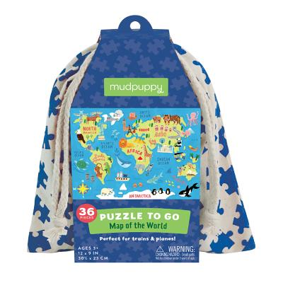 Map of the World Puzzle to Go Cover Image