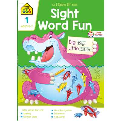 Sight Word Fun 1 Deluxe Edition Workbook Cover Image