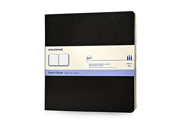 Moleskine Art Plus Sketch Album, Square, Black, Soft Cover (7.5 x 7.5) Cover Image