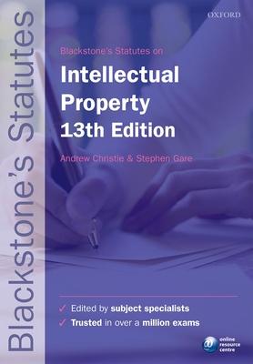 Blackstone's Statutes on Intellectual Property Cover Image