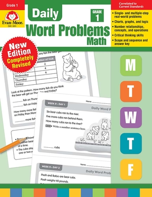 Daily Word Problems, Grade 1 Cover Image