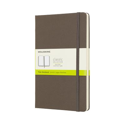Moleskine Classic Notebook, Large, Plain, Brown Earth, Hard Cover (5 x 8.25) Cover Image