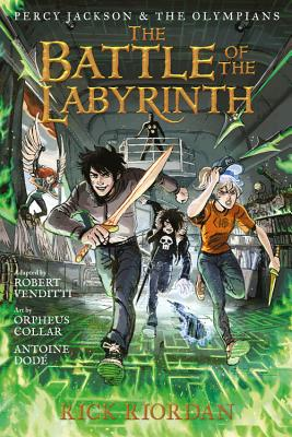 Percy Jackson and the Olympians The Battle of the Labyrinth: The Graphic Novel (Percy Jackson and the Olympians) (Percy Jackson & the Olympians #4) Cover Image