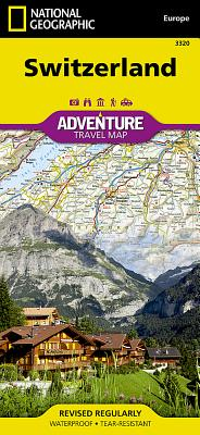 Switzerland Adventure Travel Map (National Geographic Adventure Map #3320) Cover Image