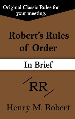 Robert's Rules of Order (in Brief) Cover Image