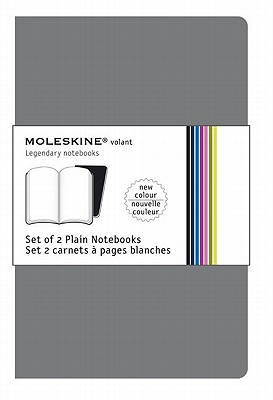 Moleskine Volant Notebook (Set of 2 ), Large, Plain, Slate Grey, Payne's Grey, Soft Cover (5 x 8.25) Cover Image