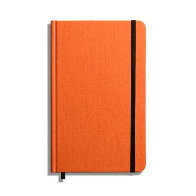 Shinola Journal, HardLinen, Ruled, Sunset Orange (5.25x8.25) Cover Image