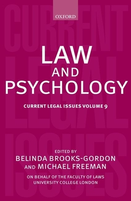 Law and Psychology: Current Legal Issues Volume 9 Cover Image