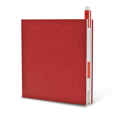 Lego 2.0 Locking Notebook with Gel Pen - Red Cover Image