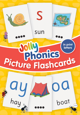 Jolly Phonics Picture Flash Cards: In Print Letters Cover Image