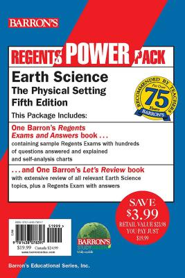 Regents Earth Science Power Pack: Let's Review Earth Science + Regents Exams and Answers: Earth Science (Barron's Regents NY) Cover Image