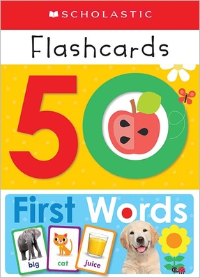 Flashcards: 50 First Words (Scholastic Early Learners) Cover Image