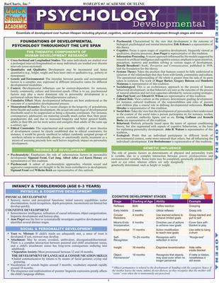 Psychology: Developmental (Quick Study: Academic) Cover Image