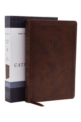 Nrsv, Catholic Bible, Gift Edition, Leathersoft, Brown, Comfort Print: Holy Bible Cover Image