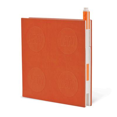 Lego 2.0 Locking Notebook with Gel Pen - Orange Cover Image