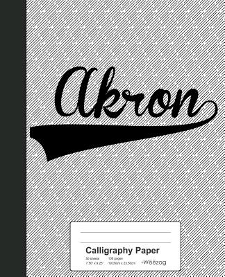 Calligraphy Paper: AKRON Notebook Cover Image