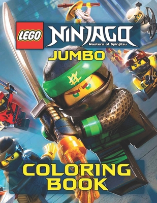 LEGO NINJAGO JUMBO Coloring Book: 48 Awesome Illustrations for Kids Cover Image