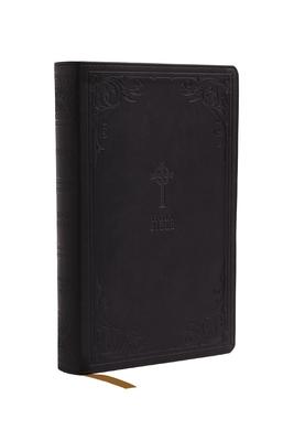 Nrsv, Catholic Bible, Gift Edition, Leathersoft, Black, Comfort Print: Holy Bible Cover Image