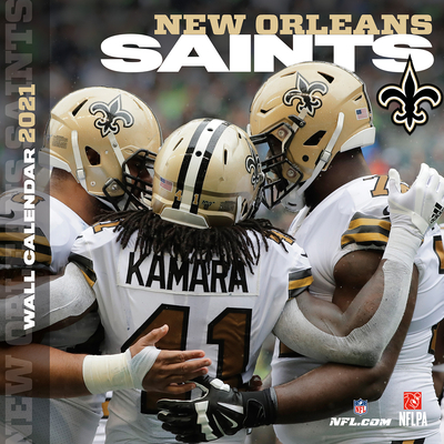 New Orleans Saints 2021 12x12 Team Wall Calendar Cover Image