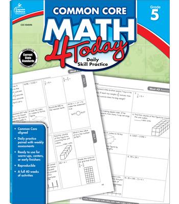 Common Core Math 4 Today, Grade 5 (Common Core 4 Today) Cover Image