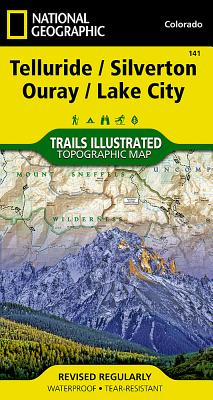 Telluride, Silverton, Ouray, Lake City (National Geographic Maps: Trails Illustrated #141) Cover Image