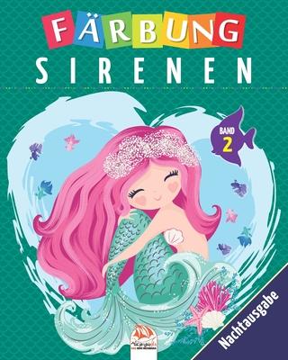 Färbung sirenen - Band 2 - Nachtausgabe: Malbuch für Kinder von - 25 Zeichnungen Cover Image