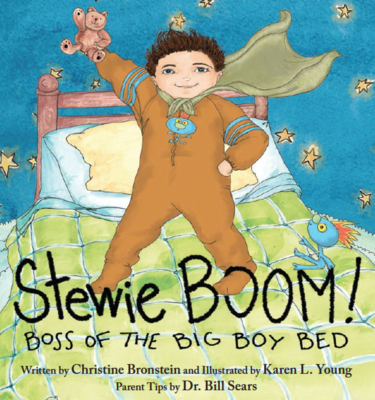 Stewie Boom! Boss of the Big Boy Bed Cover