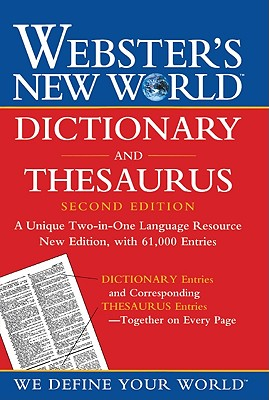 Webster's New World Dictionary and Thesaurus Cover Image
