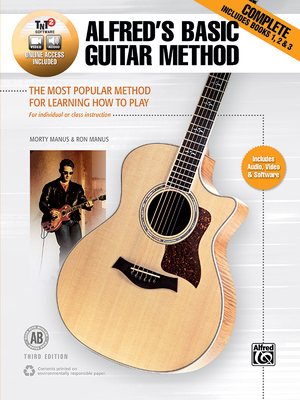 Alfred's Basic Guitar Method, Complete: The Most Popular Method for Learning How to Play, Book, DVD & Online Video/Audio/Software Cover Image