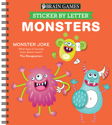 Brain Games - Sticker by Letter: Monsters (Sticker Puzzles - Kids Activity Book) Cover Image