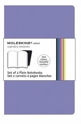 Moleskine Volant Notebook (Set of 2 ), Large, Plain, Light Violet, Brilliant Violet, Soft Cover (5 x 8.25) (Volant Notebooks) Cover Image