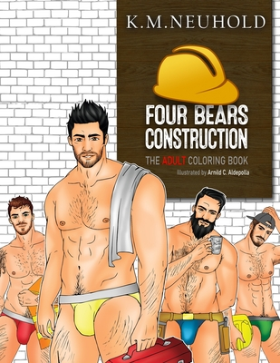 Four Bears Construction Coloring Book Cover Image