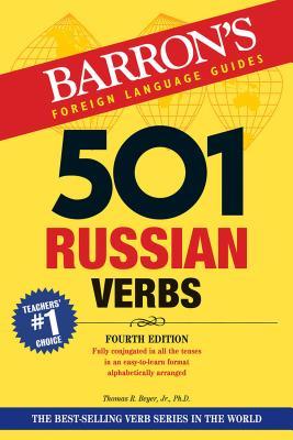 501 Russian Verbs (Barron's 501 Verbs) Cover Image
