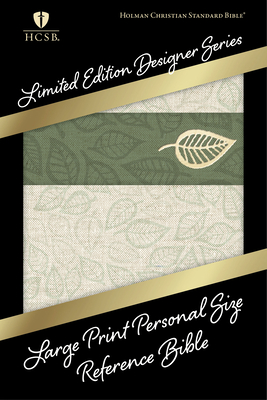 Cover for HCSB Large Print Personal Size Reference Bible, Designer Series, Linen Leaves LeatherTouch