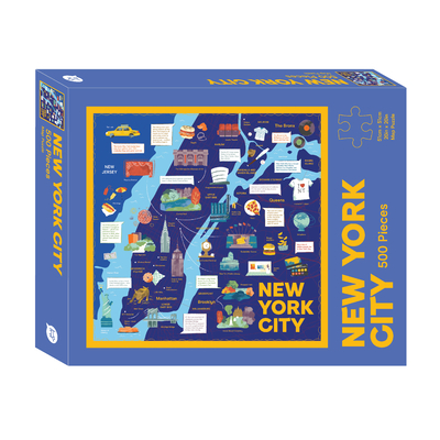 New York City Map: 500-Piece Jigsaw Puzzle (Map Puzzle) Cover Image