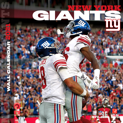 New York Giants 2021 12x12 Team Wall Calendar Cover Image
