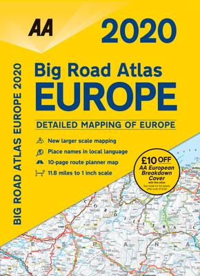 Big Road Atlas Europe 2020 Cover Image