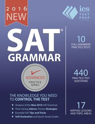New SAT Grammar Workbook (Advanced Practice #8) Cover Image